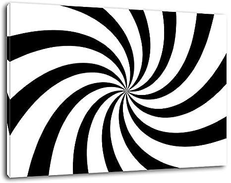 Espiral Negro / blanco Tamaño: 120x80 cm pintura sobre lienzo-cubiertos, enormes imágenes