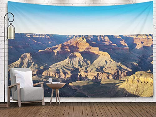 Bisead Wall Art for Bedroom Tapestry, Map Art Tapestry 80x60 inchs Sunset Grand Canyon from Point South Rim Arizona Wall Hanging Gifts for Bedroom Dorm Décor