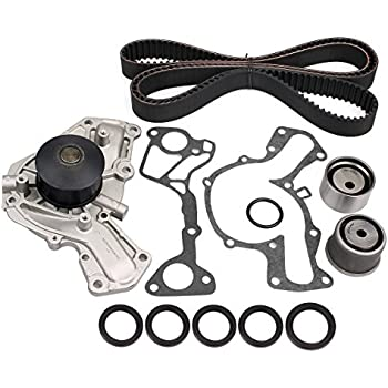 AUCERAMIC Timing Belt Kit Water Pump for 1991-1999 MITSUBISHI 3000GT SL NON- TURBO