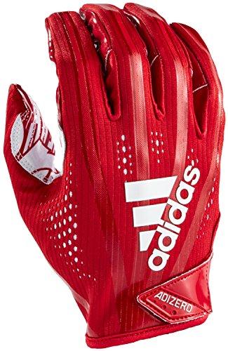 adidas AF1000 Adizero 7.0 Receivers Gloves, Red, Medium
