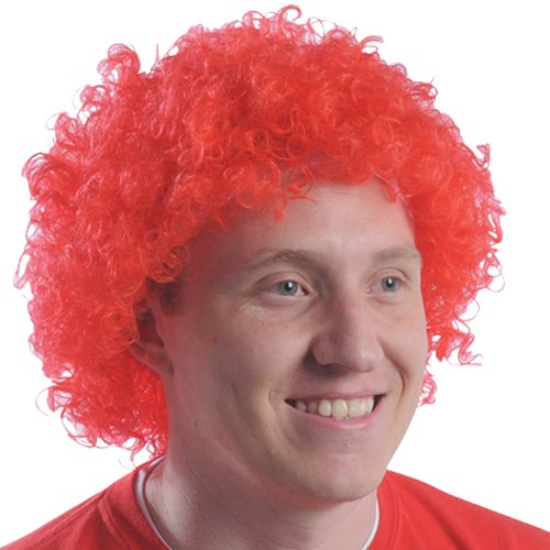 (DollarItemDirect RED TEAM SPIRIT AFRO WIG, SOLD BY 17 PIECES)