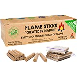 Zedfire Fire Starter Sticks - Waterproof Fire Starters for Camping, Individually Wrapped Natural Charcoal Starters - New Alternative to Fire Starter Squares (100-count)