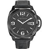 Certus - 610789 - Montre Homme - Quartz Analogique - Cadran Noir - Bracelet Cuir Noir