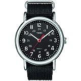 Timex Unisex T2N647 Weekender Black Nylon...