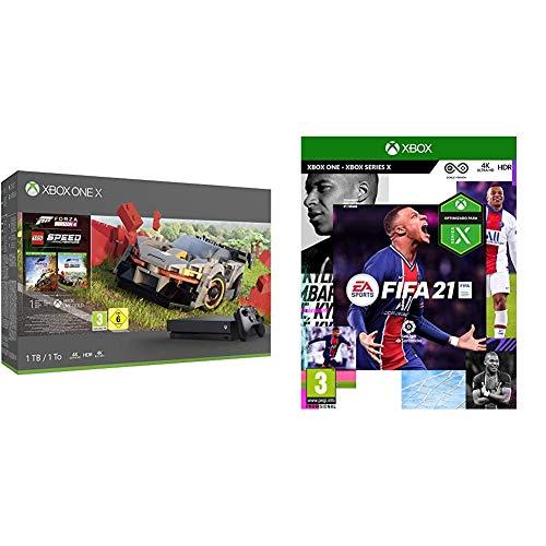 Microsoft Xbox One X – Consola 1 TB, Mando Inalámbrico, Forza Horizon 4, Lego Speed Champions + FIFA 21 Edición Estándar