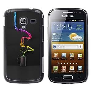 TopCaseStore / la caja del caucho duro de la cubierta de protección de la piel - Color Coffee Cup Paint - Samsung Galaxy Ace 2 I8160 Ace II X S7560M
