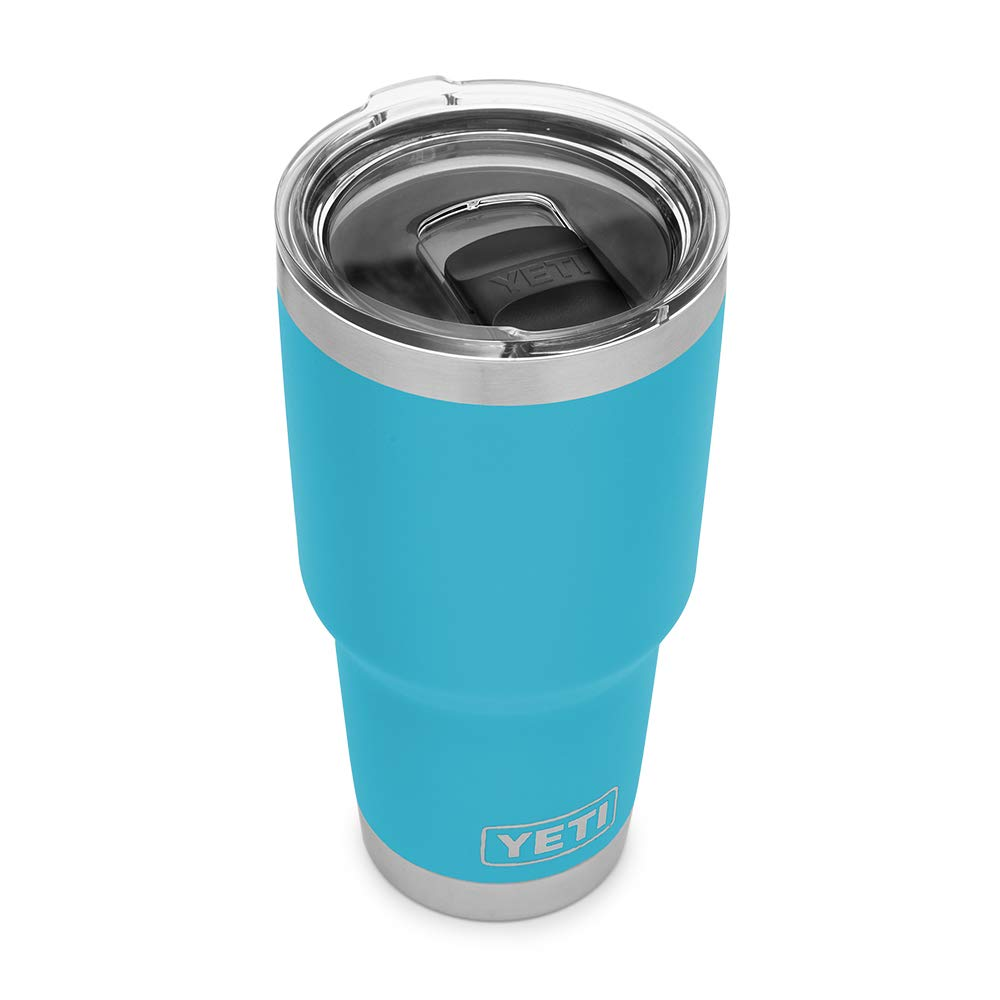 YETI Rambler 30 oz Stainless Steel Vacuum Insulated Tumbler w/MagSlider Lid, Reef Blue by YETI