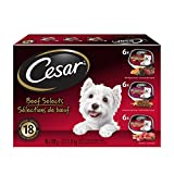 Cesar Variety-Beef Selects (6Xbeef/6Xfilet Mignon/6Xporterhouse Steak) 18 Trays Pet Food