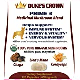Duke's Crown PRIME 3 K-9 Mushroom Mix {Support for your DOG'S IMMUNITY, ENERGY & COGNITION}