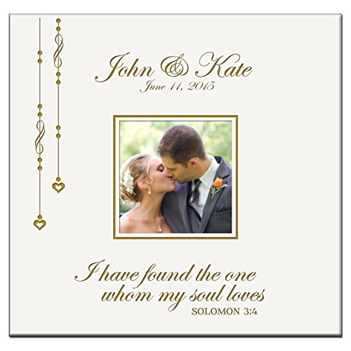 Personalized Wedding Photo Album Custom Engraved I Have Found the One Whom My Soul Loves Solomon 3:4 Photo (Engraved Wedding Photo Album)