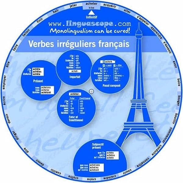 French Verb Wheel Verbes Irreguliers Francais Stephane Derone 9781847950390 Amazon Com Books