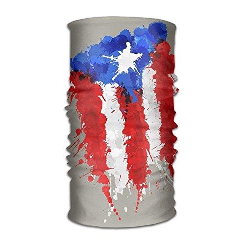 Doormat shirts Bandana Headband Novelty Puerto Rico Flag Spot Multifunction Magic Handscarf,Face Mask,Neck Gaiter,Balaclava,Sweatband,Head Wrap,Outdoor Sport UV Resistence.