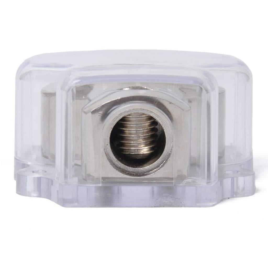 H HILABEE 2Pcs 3-Wege Auto Audio Stereo Amp Power Ground Kabel Splitter Verteilerblock f/ür Autos Boote