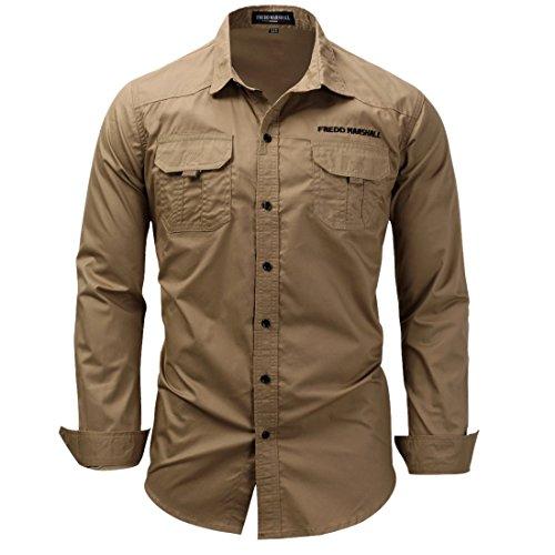 hombre de negocios larga de vestir algod de manga Camisa de de ftEAqnnw