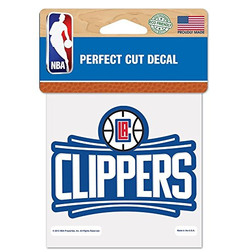 Clippers Decal - Wincraft Los Angeles Clippers 4x4 Die Cut Decal