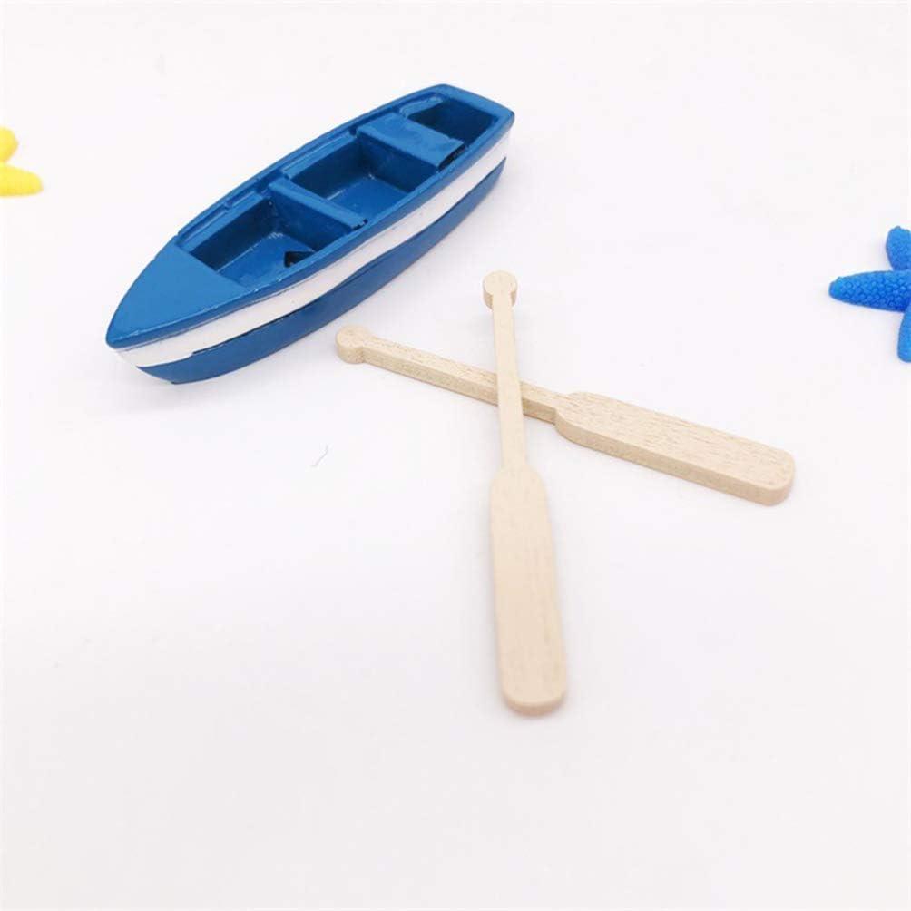 HEALLILY Miniatur Boot mit Paddel Segelboot Modell Figur Harz Desktop Ornamente f/ür DIY Fairy Garden Bonsai Puppenhaus Ozean Strand Dekoration