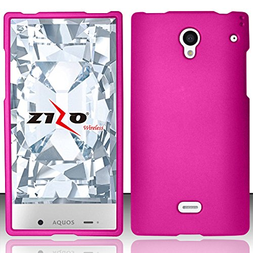 LF 3 in 1 Bundle - Hard Case Cover, Lf Stylus Pen & Droid Wiper Accessory for (Sprint) Sharp Aquos Crystal (Hard Pink) (Sharp Aquos Crystal Keyboard compare prices)