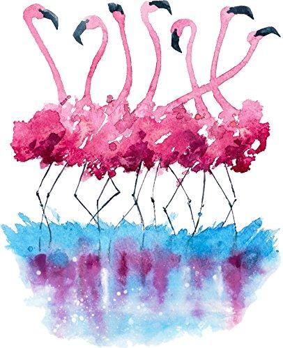 [해외]예쁜 페인트 튄 플라밍고 아트 비닐 데 칼 스티커 (12 인치) / Pretty Paint Splatter Flamingo Art Vinyl Decal Sticker (12 Tall)