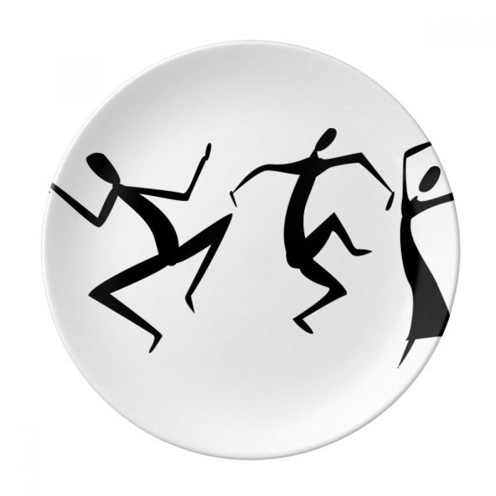 Egypt Dance Totem Abstract Fresco Funny Dessert Plate Decorative Porcelain 8 inch Dinner Home