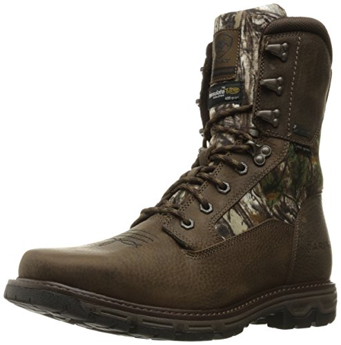 Ariat Mens Conquest Wide Square 8 GTX Hunting Boot Pebbled Brown