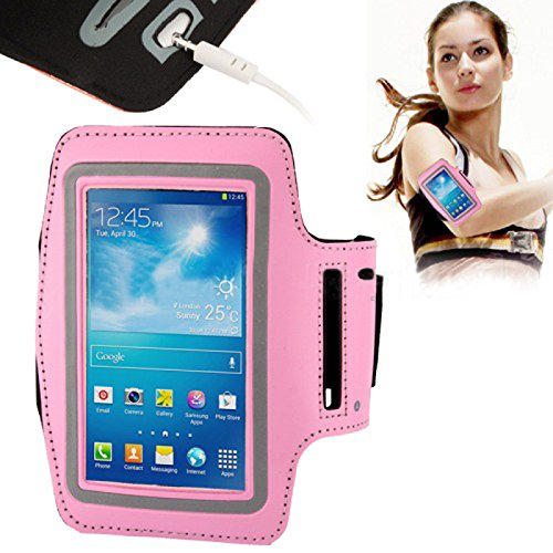 Sports/ Running/ Gym/ Jogging Exercise Neoprene Armband CaseProtective Smart Telephone Cover for Samsung Gaxaly Note 2/ Note 3/ Note 4 Color Pink