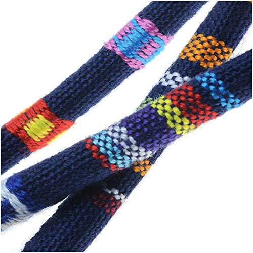 Multi-Colored Cotton Cord, Round Woven Strands 6mm Thick, 3 Feet,