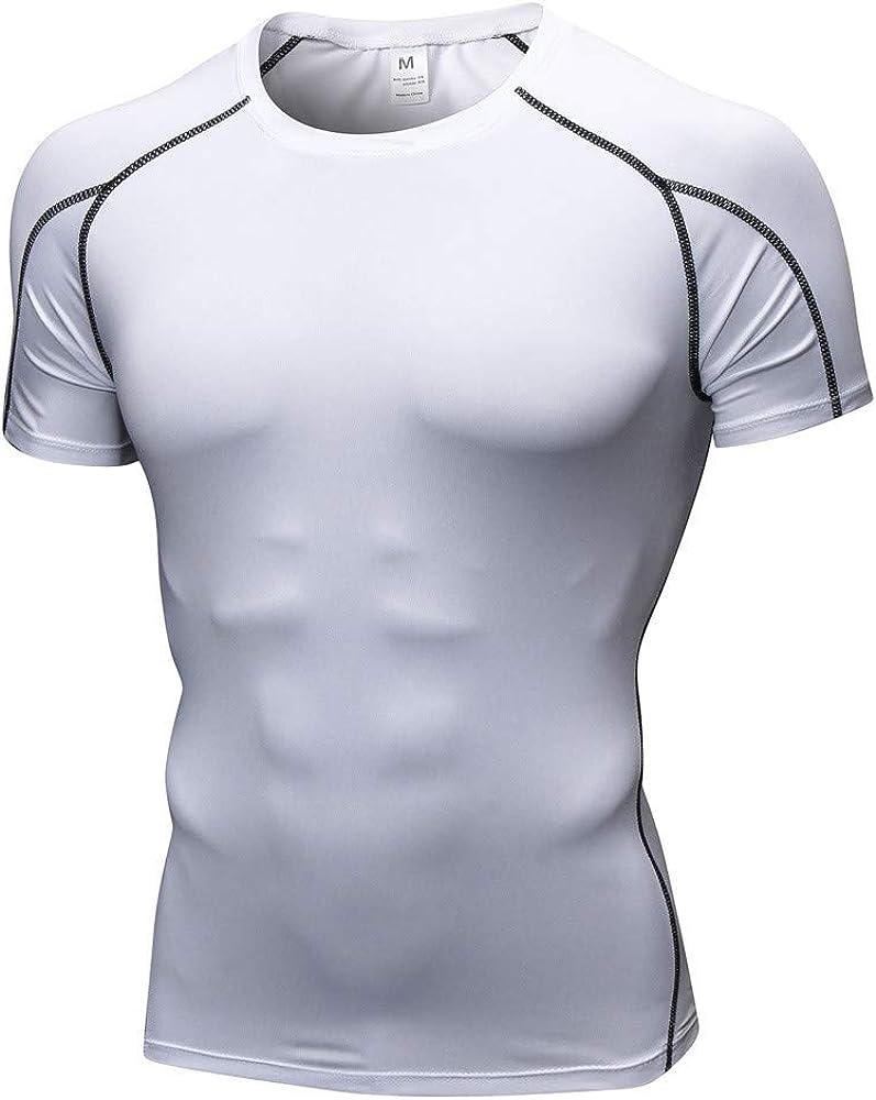 ZODOF Camisetas Hombre Manga Corta, Moda Personalidad Hombres Casual Slim Manga Corta Camisa Blusa Superior: Amazon.es: Ropa y accesorios