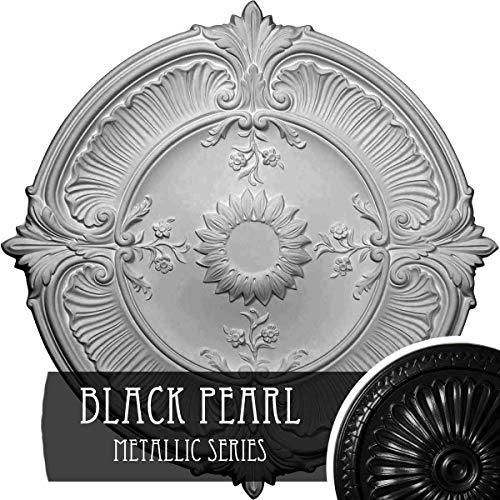 Ekena Millwork CM30ATBPS Attica Acanthus Leaf Ceiling Medallion, Black Pearl