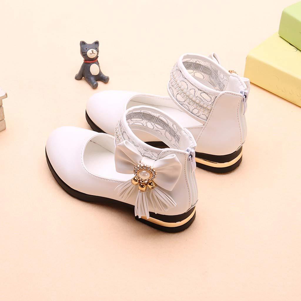 Tronet Infant Girls Fringe Pearl Bowknot Dance Single Princess Sandals Shoes Princess Dress Shoes