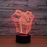 Creative 7 Color Changing Led Night Light Fixture Decor 3D Vision Gifts Box Modelling Table Lamp USB Baby Sleep Atmospheres Lamp Lbonb