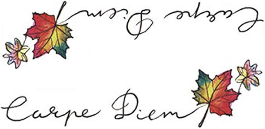 3 Hojas de Colores Hoja de Arce Palabras en Inglés Tatuajes ...