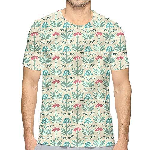 t Shirt Printer Green,Tulip and Gypsophila Blossom Junior t Shirt L
