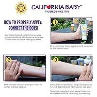 California Baby SPF30 + loción de protección solar, todos los días del año, resistente al agua e hipoalergénico, 2.9 onzas