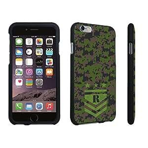DuroCase ? Apple iPhone 6 Plus - 5.5 inch Hard Case Black - (Army Camo Monogram R)