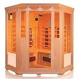 Trade-Line-Partner Infrared Corner Sauna Cabin For up to 4 people