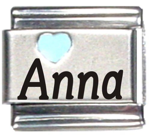 Anna Light Blue Heart Laser...