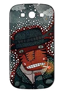 Case Fun Samsung Galaxy S3 (I9300) Case - Vogue Version - 3D Full Wrap - Smoking Tiger