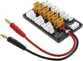 Goolsky Tablero de Carga paralela de la batería Li-Po del Enchufe 1-3S XT30 con el varón 6T XT30 a los Cables Femeninos de JST para el Cargador IMAX ...