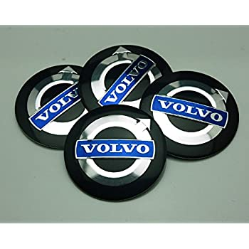 Amazon 4 new volvo 55 mm wheel center cap emblems sticker benzee 4pcs d111 565mm car emblem badge sticker wheel hub caps centre cover black volvo sciox Gallery