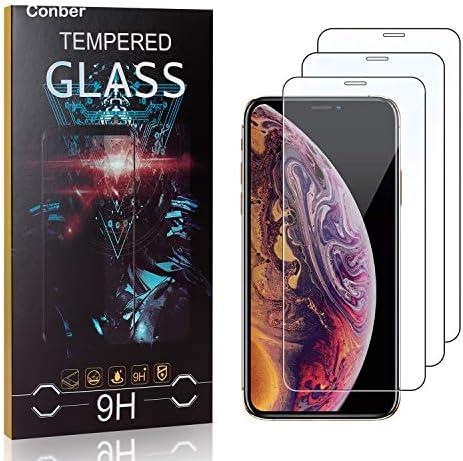 Conber [3 Stück] Displayschutzfolie kompatibel mit iPhone 11 Pro Max, Panzerglas Schutzfolie für iPhone 11 Pro Max [9H Härte][Hüllenfreundlich]
