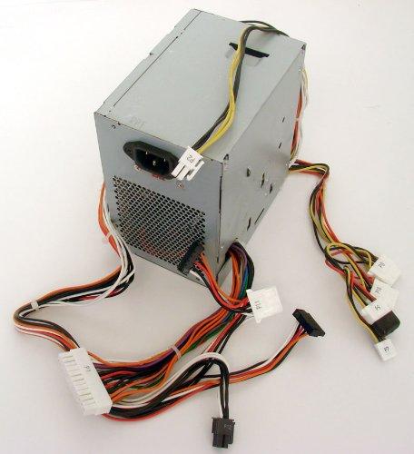 (Genuine Dell K8956 375W Power Supply PSU Power Brick Internal Power Source, For Dimension 9100, 9150, Precision Workstations 380, 390, XPS 400, UPGRADE PSU For Dimension 5100, E510, 5150, E520,)