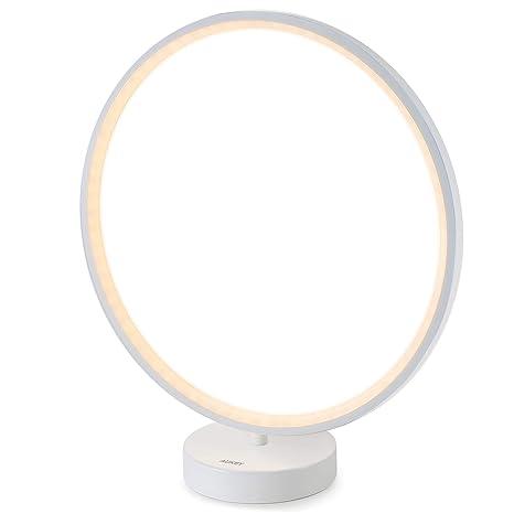 AUKEY Lámpara de Mesa, Aura luz Regulable con Control Remoto, 6 Modos de Iluminación, 4 Velocidades de Iluminación y Función de Memoria de Iluminación