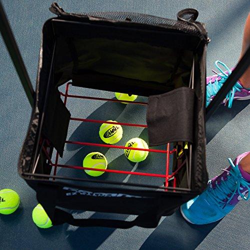 bbcd82d017 Gamma Ballhopper Premium EZ Tennis Travel Cart 150   EZ Ball Basket –  Portable   Compact