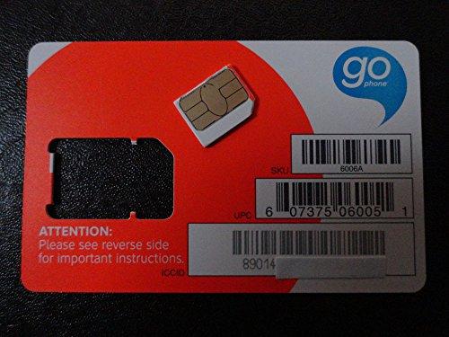 AT&T Wireless 3G / 4G / LTE Micro SIM Card - Postpaid /Go Phone Prepaid - SKU 4453A SIM