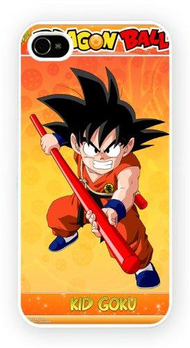 Dragon Ball Son Goku art design, iPhone 4 4S, Etui de téléphone mobile - encre brillant impression