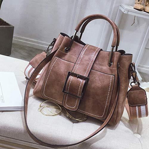 Shoulder Multi Handbag Bag Bags Leather Zipper Bafaretk Retro Corssbody Women's PINK Clearance 8WYFRI