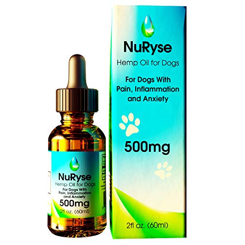 Hemp Oil for Dogs 500mg: Calming Supplements for Anxiety, Separation, Stress, Hip & Joint Relief, Arthritis, & Inflammation - Anti-Inflammatory & Calming