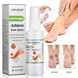 Foot Spray, Athletes Foot, Shoe Deodorant, Foot Odor Spray, Natural formula, Ringworm, Jock Itch and Foot Infections. Effectively Soothes in Minutes-Fights Against