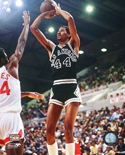 NBA George Gervin San Antonio Spurs Action Photo (Size: 8