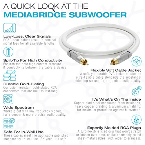 ULTRA Series Subwoofer Cable - Dual Shielded RCA to RCA by Mediabridge (Image #5)